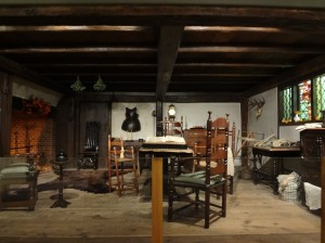 Room of early American settlers