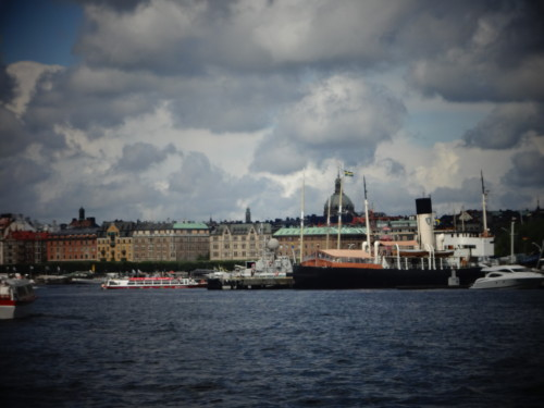 View from the ferry to Skansen