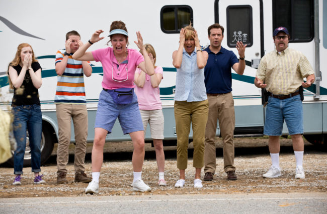 "Oh my gosh! What happend here? Watch ""We're the Millers"" to find out the answer! Photo: © 2016 Warner Bros. Entertainment Inc."