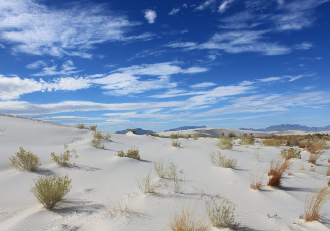 White Sands Monument, New Mexico. Source: Wikipedia