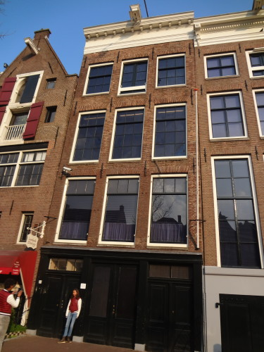 Front view of the Anne Frank Huis.