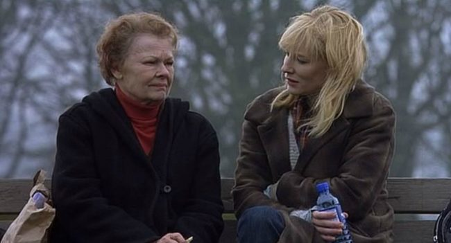 Sheba and Barbara on their favourite bench in Hampstead Heath. © 20th Century Fox