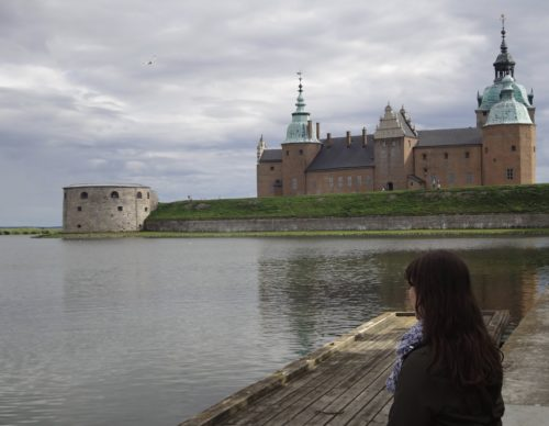 Watching the sunset at Kalmar Castle.