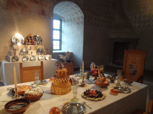 Dining table at Kalmar Castle (not ours though).