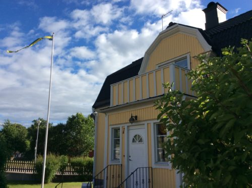 Typical Swedish house in Vimmerby.
