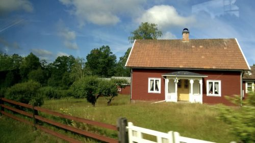 Typical Swedish house seen en route.