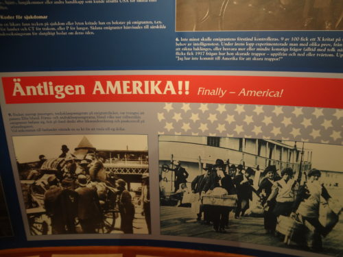 Finally America! Photo taken at the House of Emigrants in Växjö, Sweden.