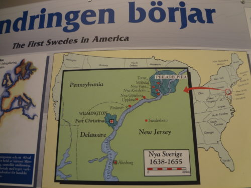 Find out where the first Swedes settled in the States. Photo taken at the House of Emigrants in Växjö, Sweden.