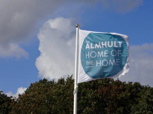 """Älmhult, Home of the Home"" flag"