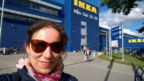 Me in front of IKEA