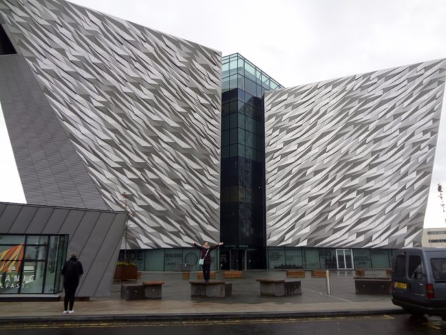 The building for the Titanic Experience in Belfast was designed as a huge iceberg, which has the same height as the original Titanic. Photo: Sonja Irani