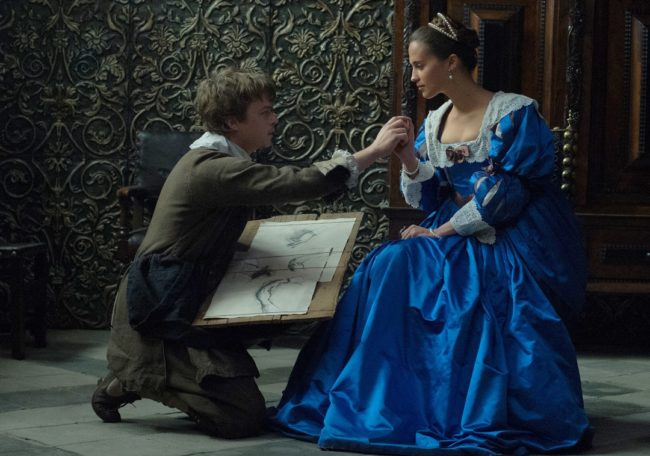 """Dane DeHaan and Alicia Vikander in """"Tulip Fever"""". Photo: Alex Bailey © 2014 The Weinstein Company."""