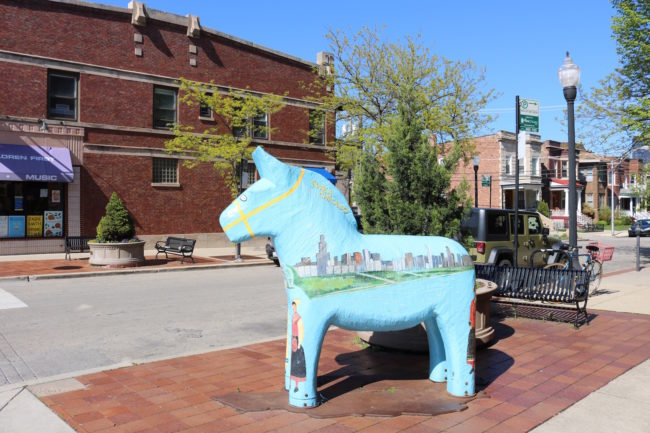 A Swedish horse in Andersonville, Chicago